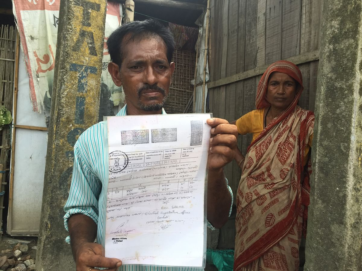 Nalbari's Md Faiz Ali confessed to <i>EastMojo</i> that they had unintentionally submitted Kutubuddin Ahmed's legacy code to the authorities in NRC