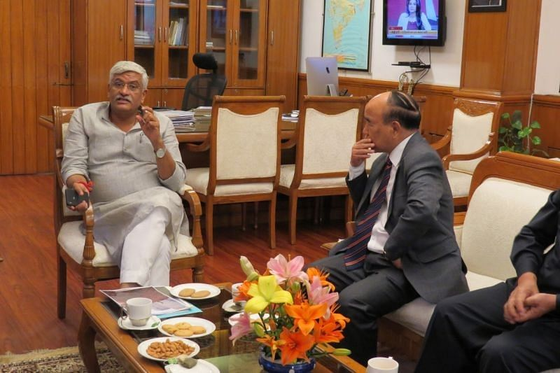 Mizoram CM Zoramthanga informed Union minister Gajendra Singh Sekhawat about the persistent water crisis in the state
