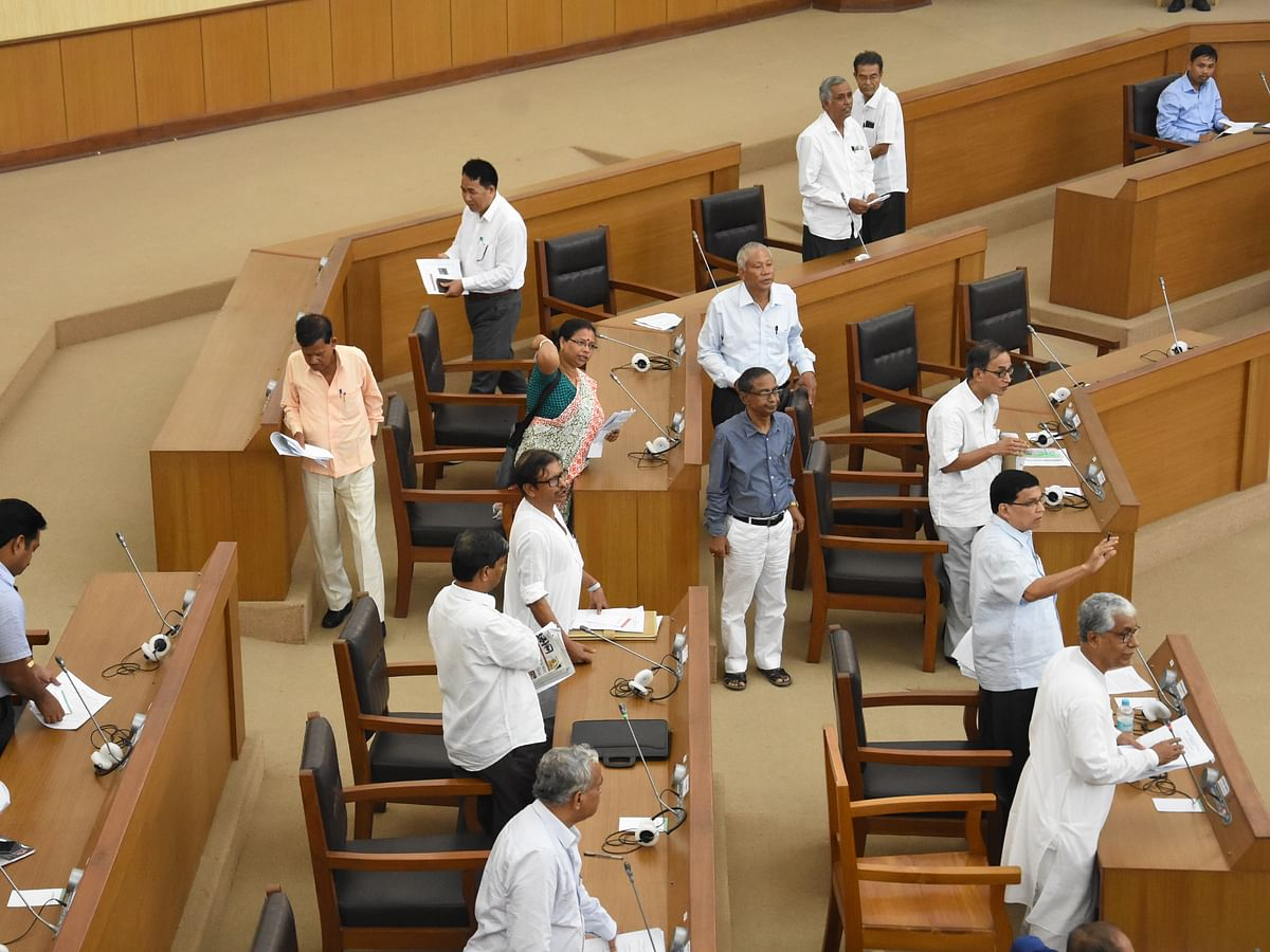 Tripura House passes ESMA bill amid walkout by opposition CPI-M