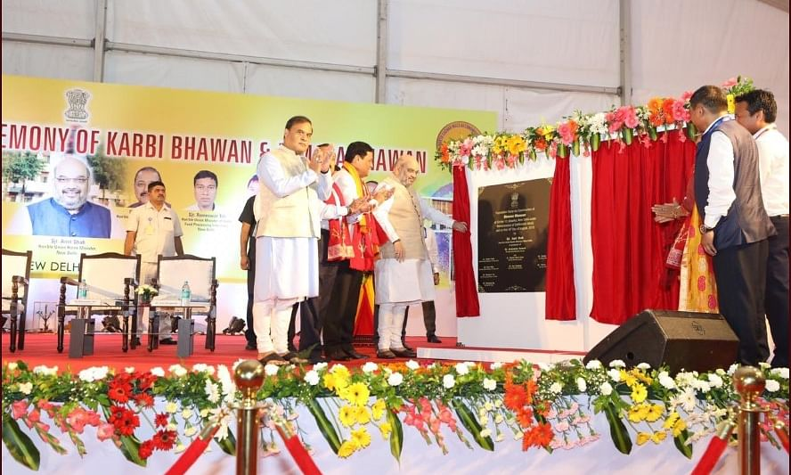 Foundation stone  for Karbi & Dimasa Bhawans laid in New Delhi