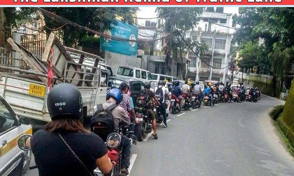 UP Police uses Aizawl road discipline pic to promote lane driving