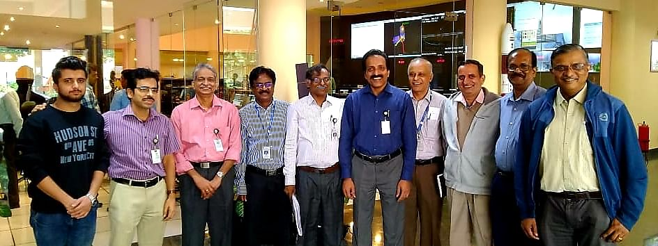 Subrata chakraborty (second from left) is one of the key engineers associated with ISRO's Chandrayaan-2 moon mission