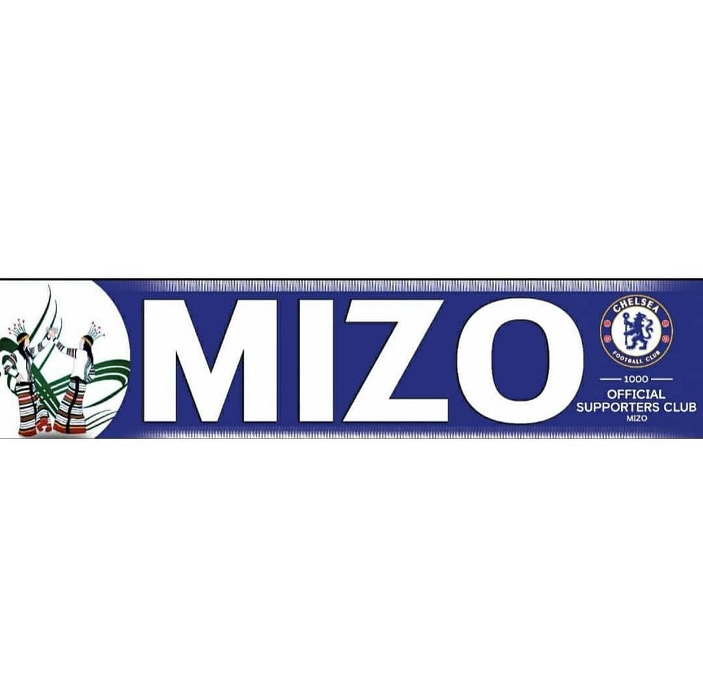 The Mizo Chelsea Supporters' Club's official banner that was on display