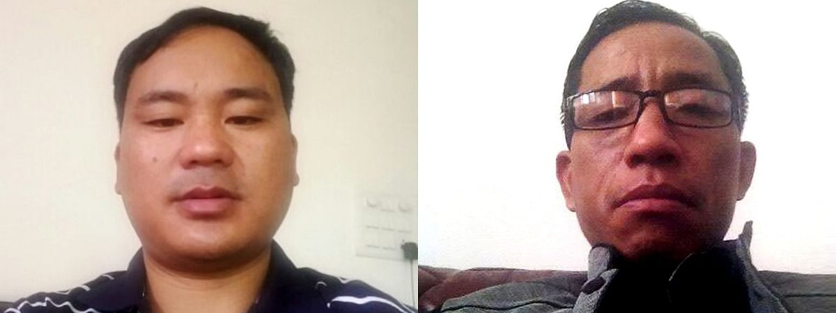 BJP's Phawang Lowang (right) was the lone opponent of slain MLA Tirong Aboh (left) in Khonsa West constituency during Arunachal Pradesh assembly elections held earlier this year