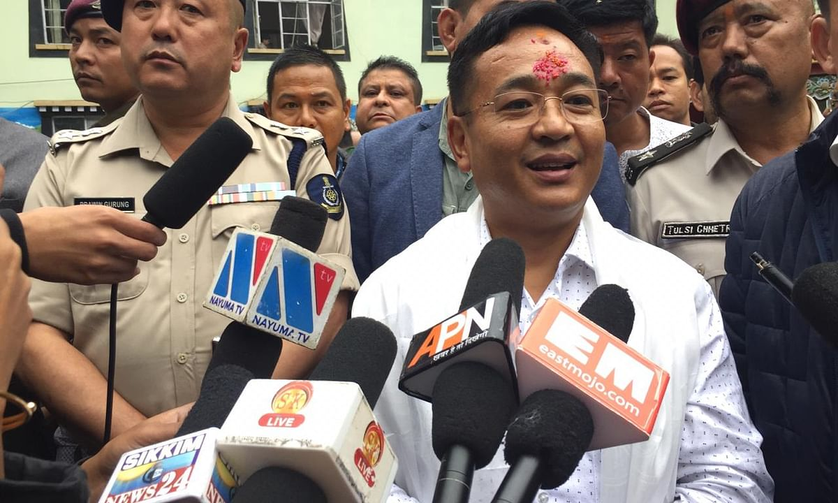 Sikkim: After EC relief, CM PS Golay files nomination for by-polls