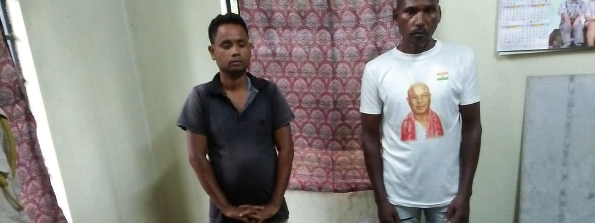 The two arrested ACMA rebels, Fudan Murmu and Bajan Murmu, in police custody