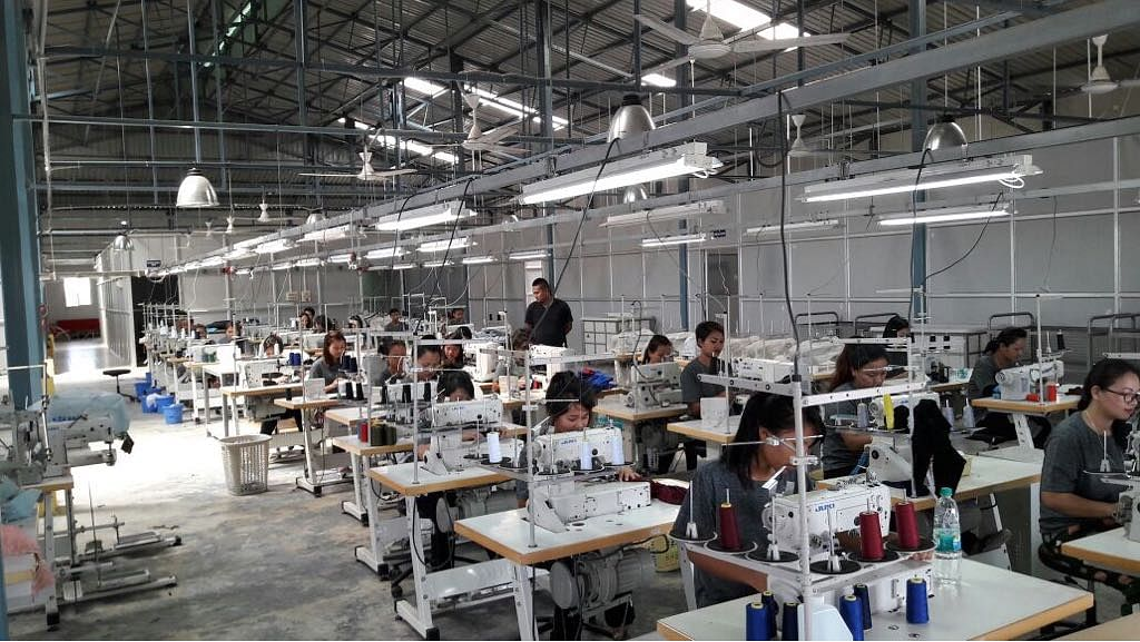 Vakiria's apparel and garment manufacturing centre produces school uniforms and various sportswear