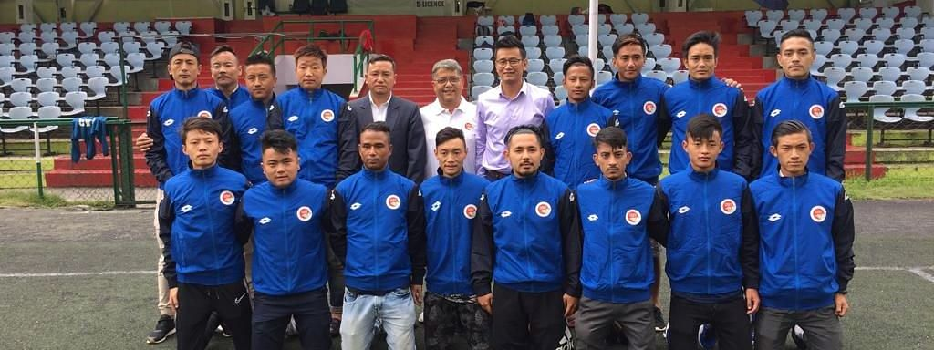 United Sikkim FC players with founding members