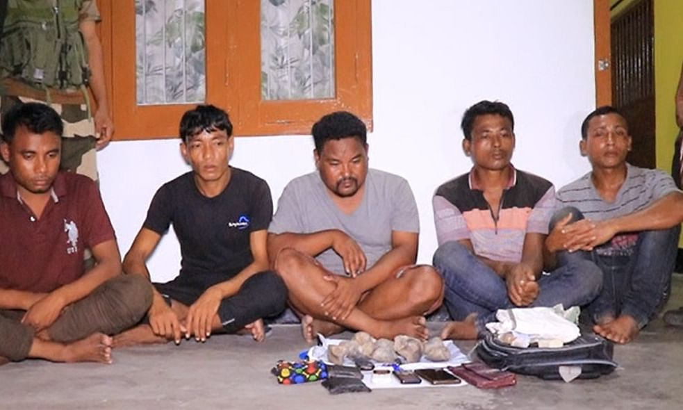 Assam: 5 poachers held with rhino nails in Biswanath