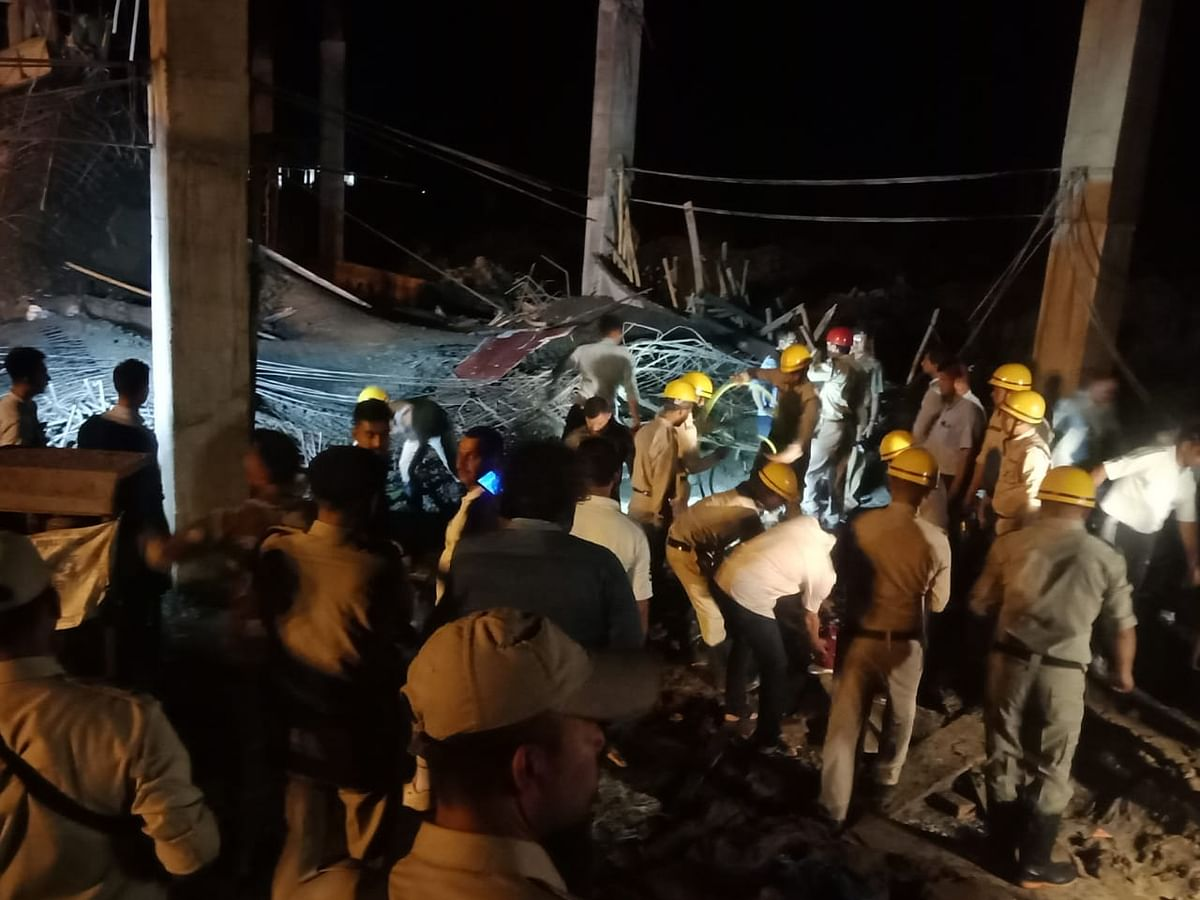 BREAKING: Under-construction building collapses in Imphal airport