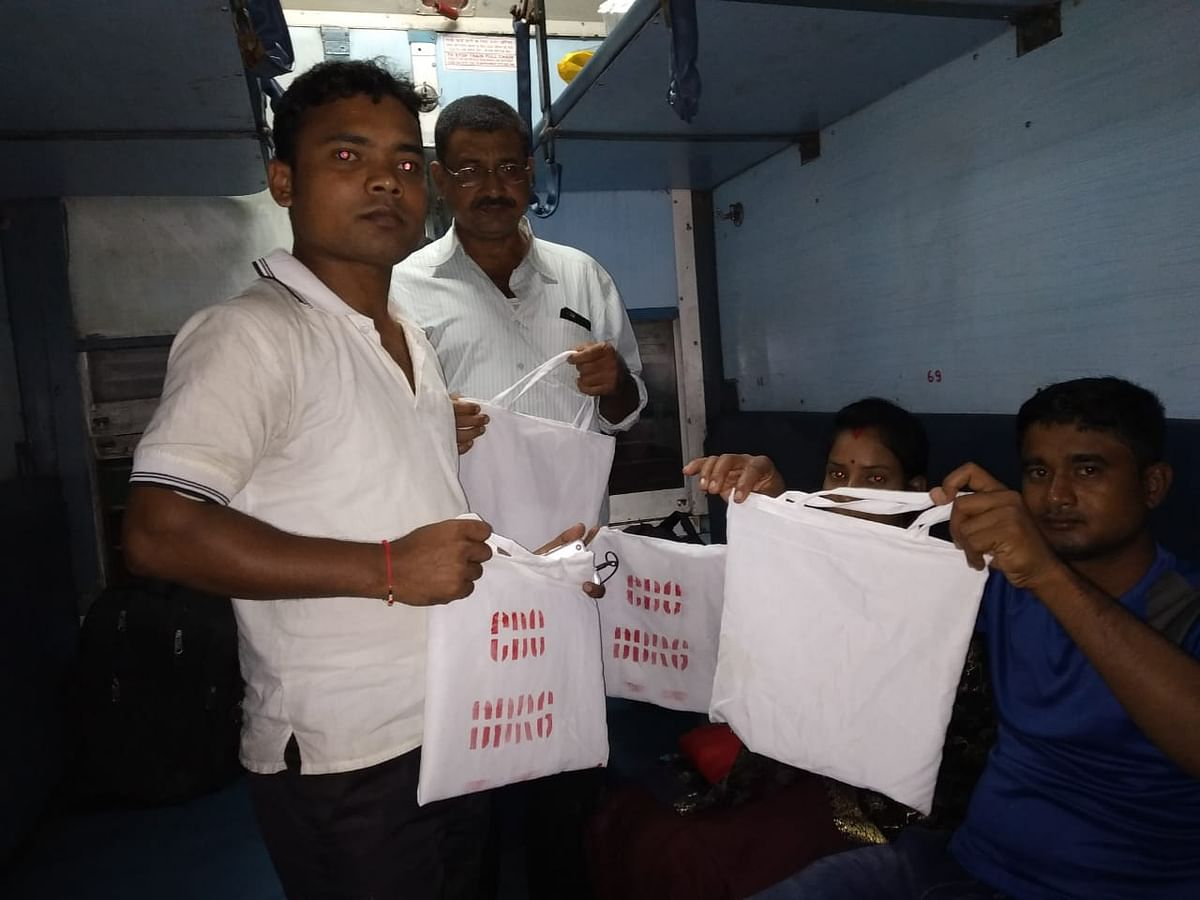 NF Railway beats plastic menace with bags made of discarded linens