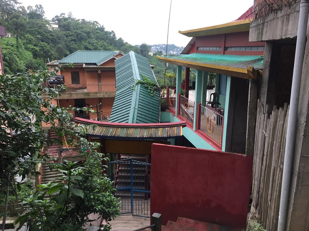 The entrance to Shiv Mandir in Khatla locality of Aizawl in Mizoram