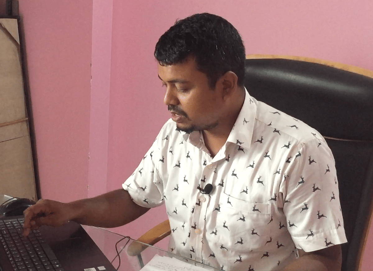Dhrubajyoti Talukdar, general secretary of Assam Public Works, who filed a case at Geetanagar police station in Guwahati on September 4, 2019