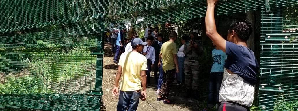 The Indian Army has been constructing such fences across its perimeters in the state's capital region for months now, claim residents