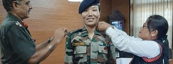 Ponung Doming was promoted to a Lieutenant Colonel in Indian Army