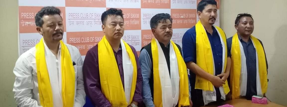 The BJP dignitaries from Ladakh in Gangtok, Sikkim on Monday