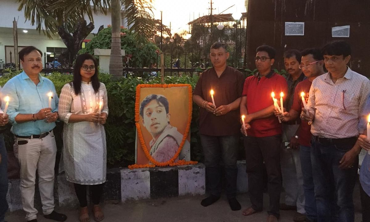 Tripura scribes remember Shantanu Bhowmik, demand justice for him