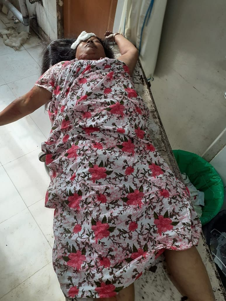 One of the two women who were knocked down by a speeding car in Assam's Dibrugarh town on Sunday morning