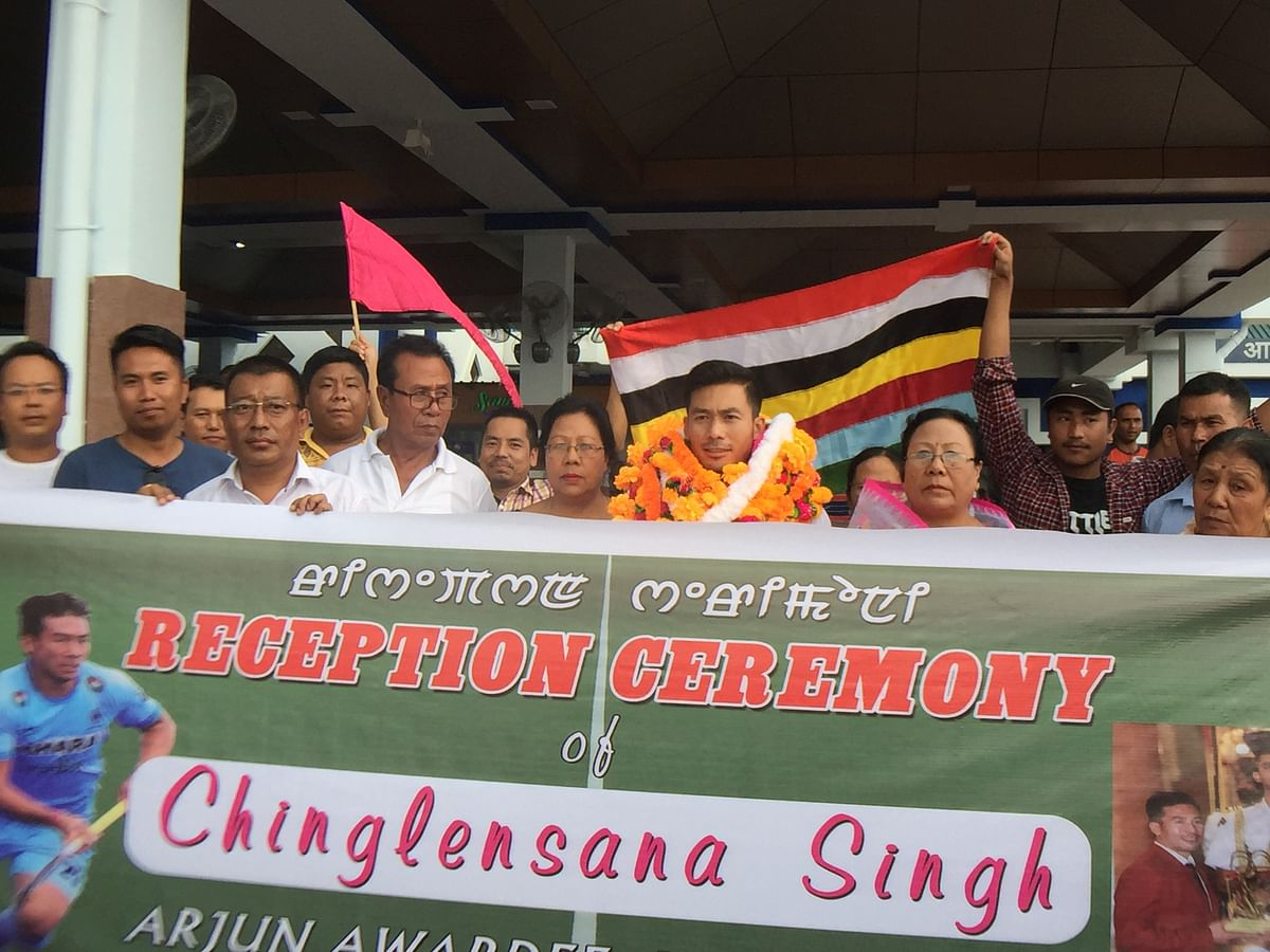 Arjuna Awardee Chinglensana Singh gets hero's welcome in Manipur