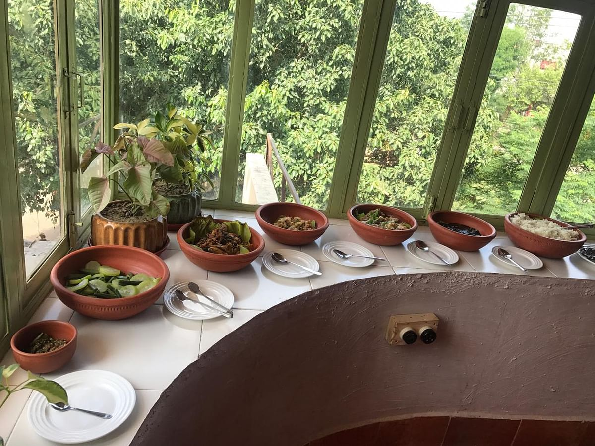 Some of the Naga delicacies served at Dzulou Tribal Kitchen in Delhi