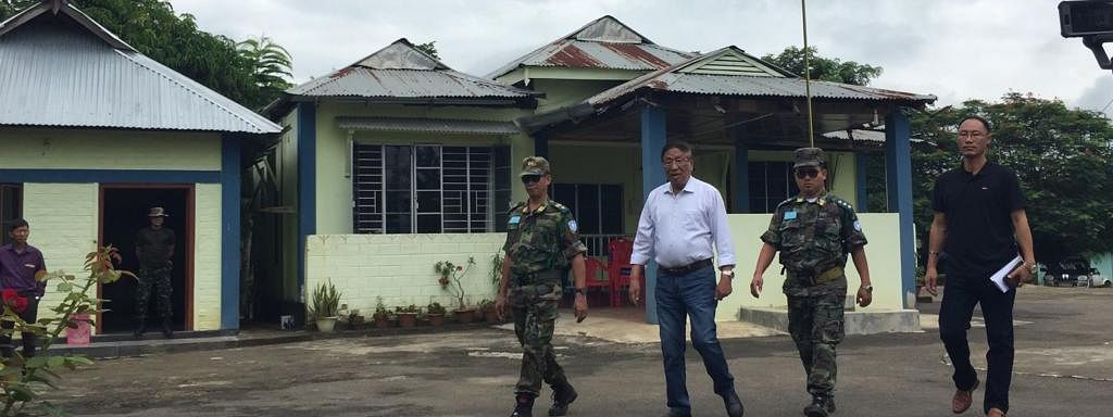 NSCN-IM general secretary Thuingaleng Muivah at Camp Hebron in Dimapur, Nagaland