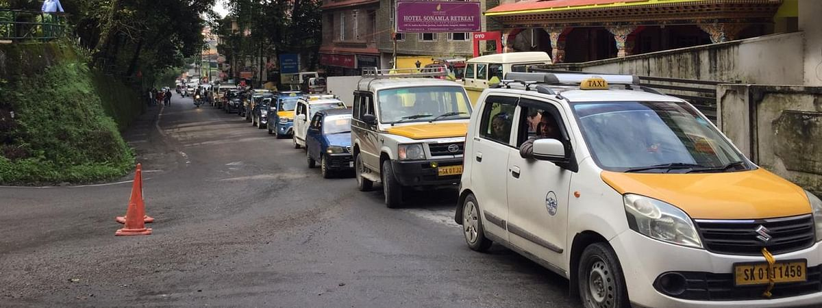 The one-way trial session that was imposed from Indira Bypass point in Gangtok, Sikkim