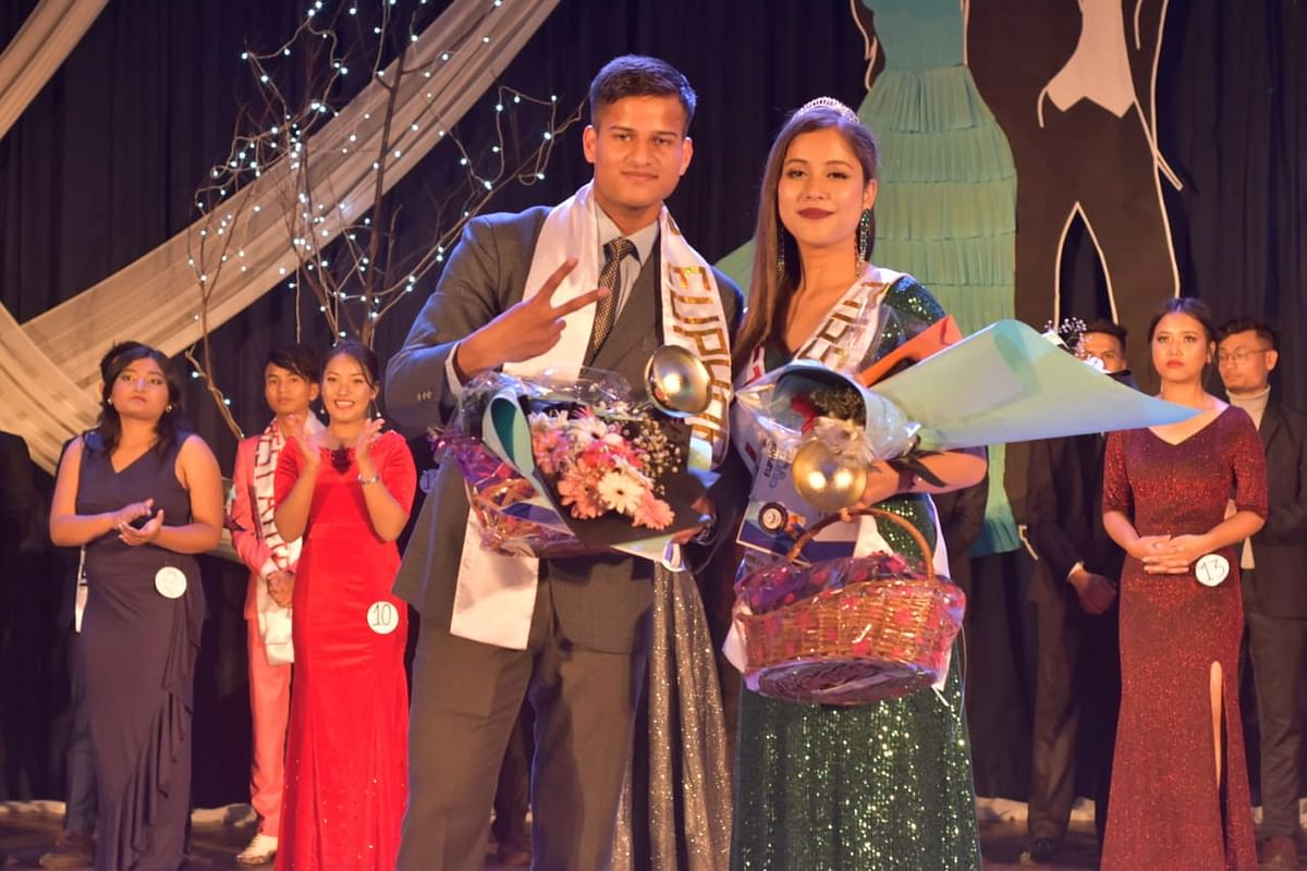 Winners of 'Spotlight' Abhinav Jain, NEIGRIHMS, and Anwesha Das, NEIAH