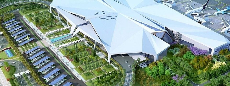 Projected look of the new terminal building of LGBI Airport in Guwahati, Assam
