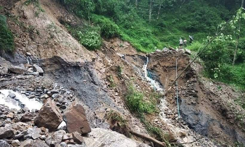 Landslides hit West Sikkim, CM PS Golay visits affected areas