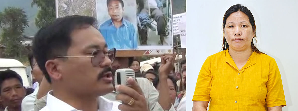 Slain MLA Tirong Aboh (left) and his wife Chakat Aboh