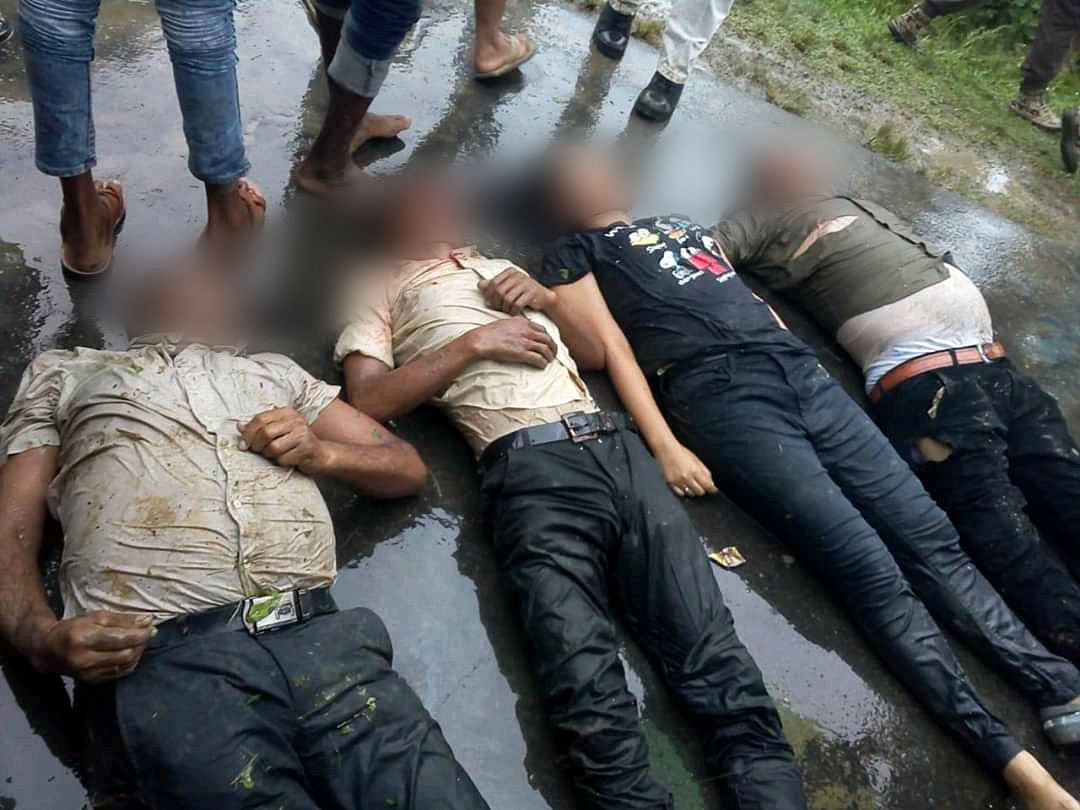 Some of the deceased in the accident that took place in Assam's Sivasagar district on Monday morning