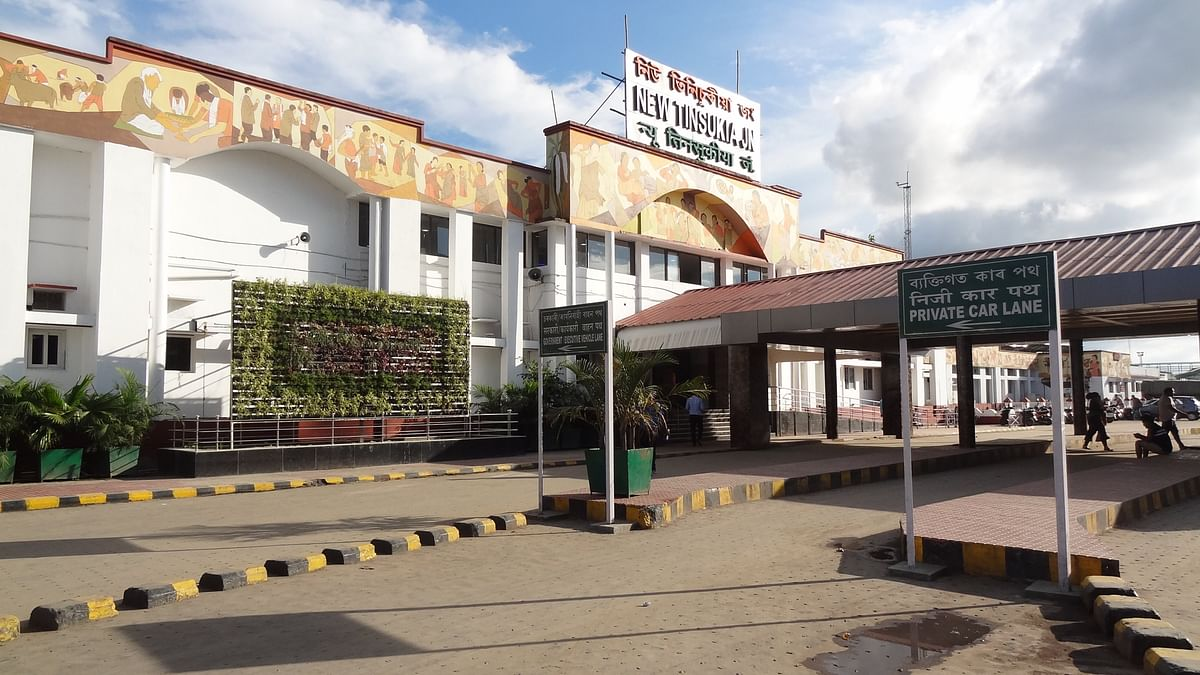 Under 'soft upgrade to stations' initiative, NF Railway is beautifying railway stations; seen in picture: New Tinsukia Junction in Assam