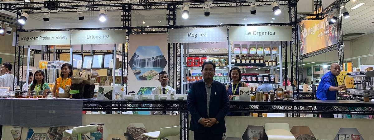 Meghalaya cheif minister Conrad K Sangma  at SIAL India 2019 Food Innovation Show in New Delhi on Thursday