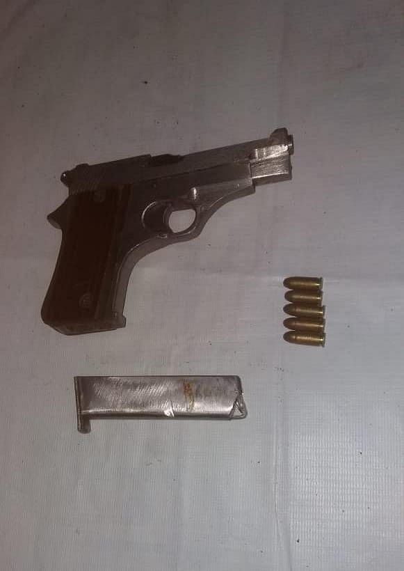 Arms and ammunition recovered from the possession of the arrested NDFB(S) rebel