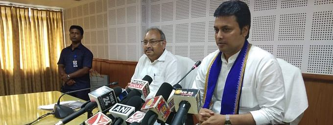 Over 84,000 families were 'neglected' to enroll their names under Ayushman Bharat Yojana, alleges Tripura chief minister Biplab Kumar Deb