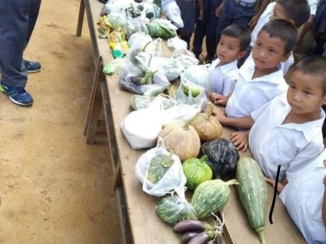 Crabs, veggies... These Mizo kids' gifts for teachers are too cute