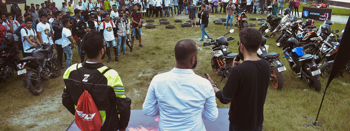 The event was hosted by Set Wet in association with Assam Bikers in Gauhati University on August 30
