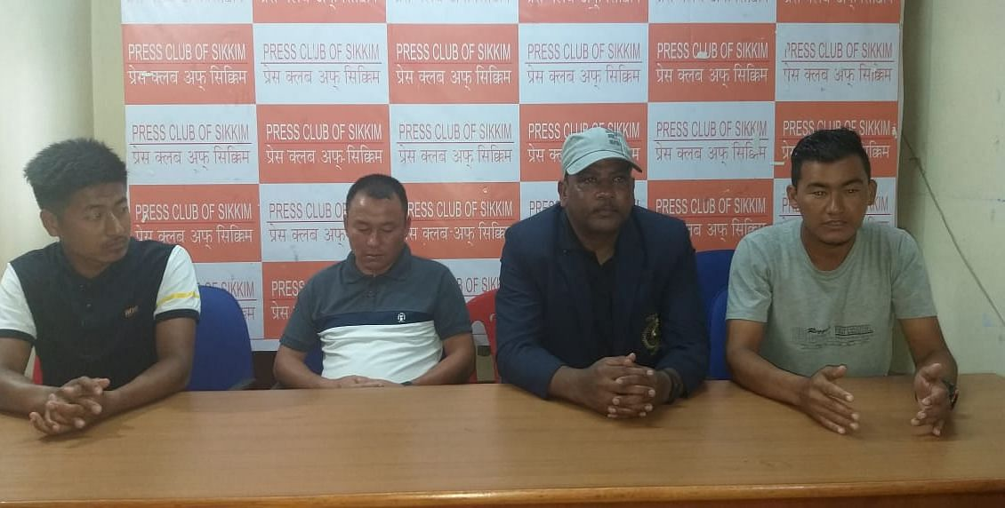 Members of Sikkim Referee Board in the press conference