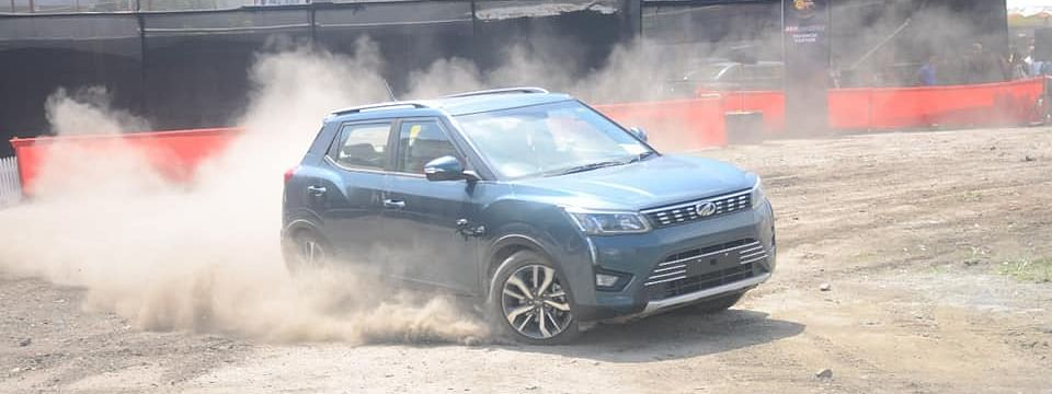 Driving tricks displayed by one of the experts at Xtreme U in Guwahati, Assam on Saturday