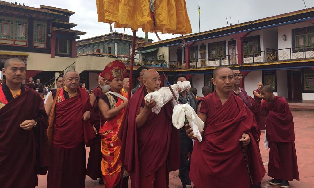 Sikkim: Buktham Rinpoche's sacred scroll brought from Dharamshala