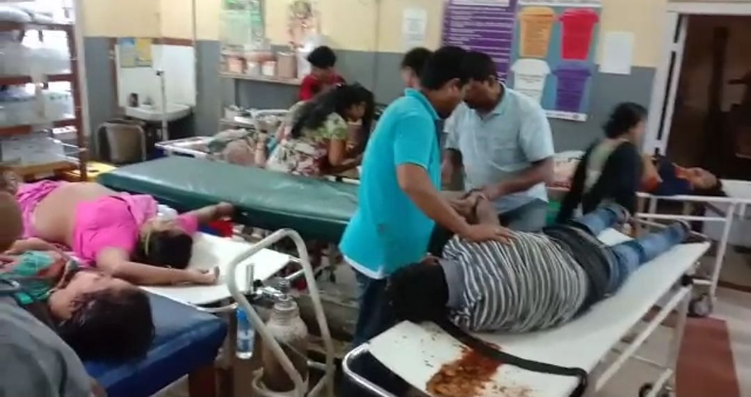 Some of the injured being treated in hospital