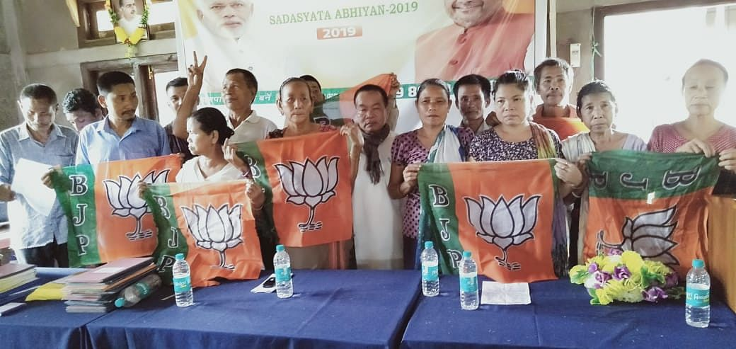 BJP members at Chakma Autonomous District Council office
