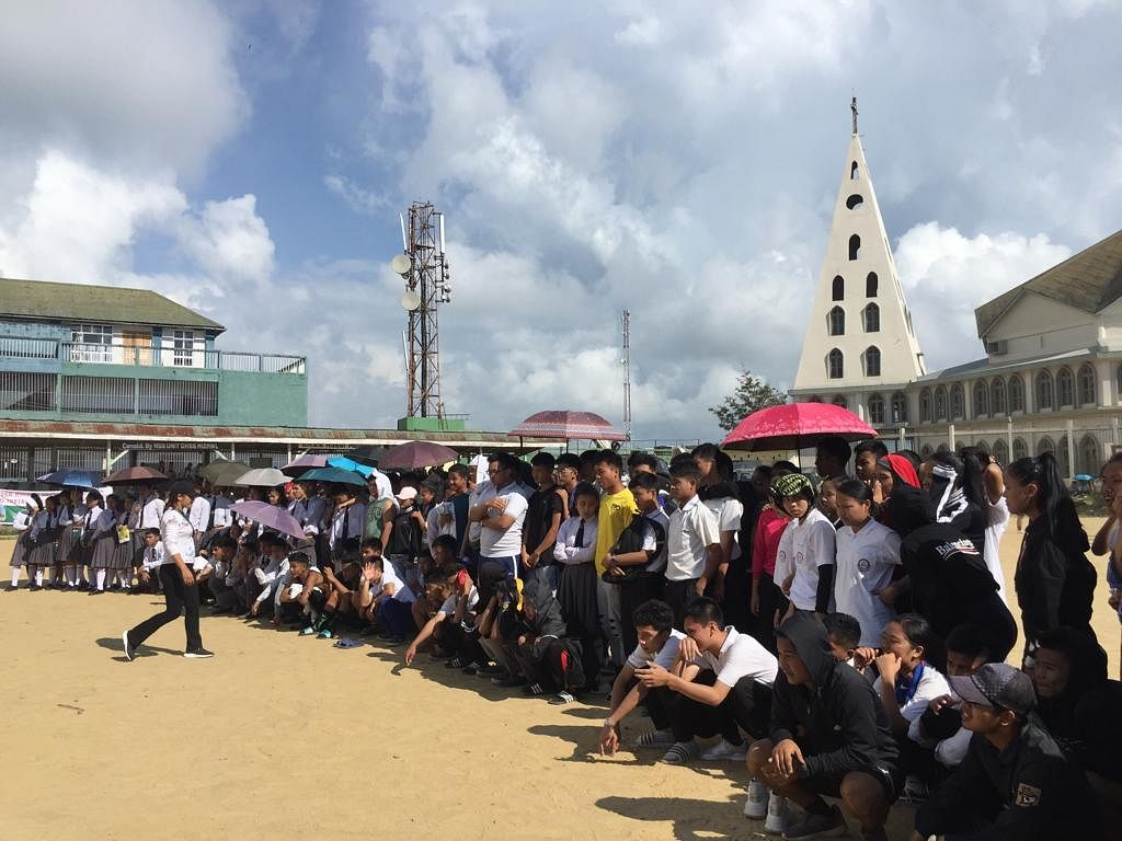 Mizo students gather to participate in indigenous games competition