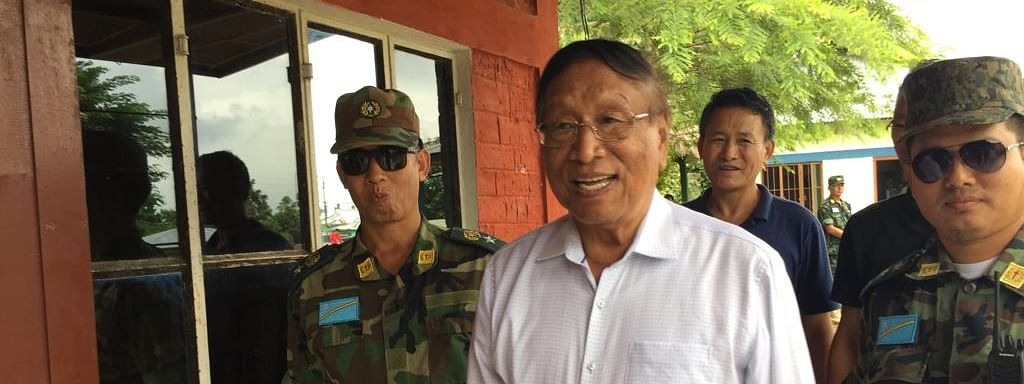NSCN-IM general secretary Thuingaleng Muivah at Camp Hebron near Dimapur, Nagaland recently