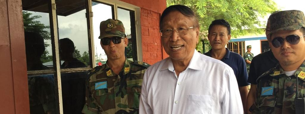 Chief negotiator of the NSCN-IM Th Muivah at Camp Hebron