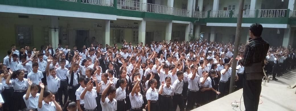 Every year, students make a pledge to preserve the Mizo customs and identity