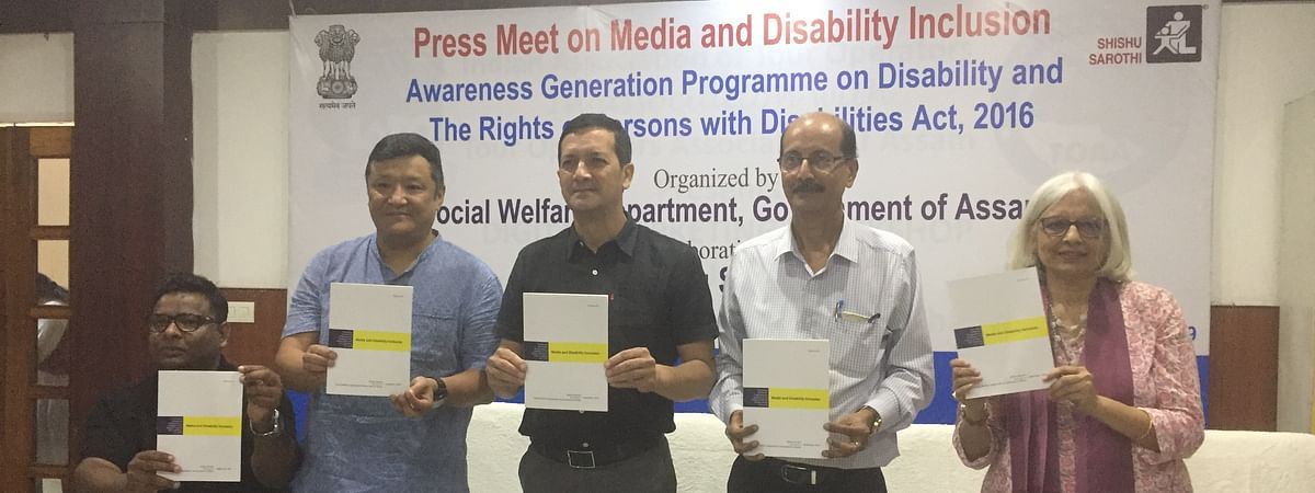 A handbook on 'Media and Disability Inclusion' was launched during a press meet in Guwahati, Assam on Monday