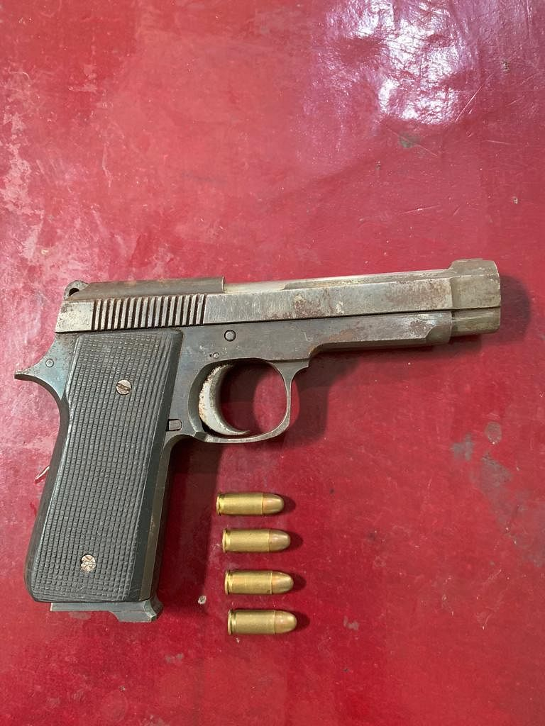 A 7.65 mm pistol along with four rounds of live ammunition were recovered from the NDFB(S) rebel