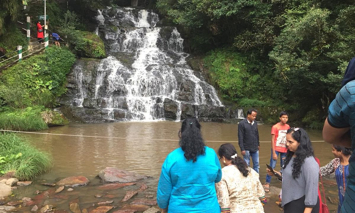 Meghalaya's iconic  Elephant Falls turning murky due to pollution
