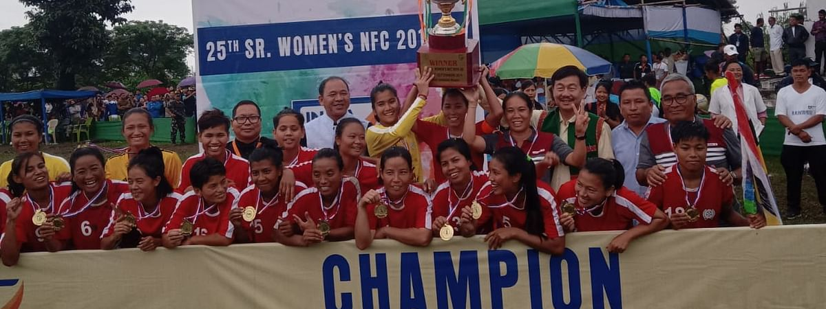 Manipur lifted the trophy of the 25th Senior Women's National Football Championship that concluded in Arunachal Pradesh's Pasighat on Tuesday